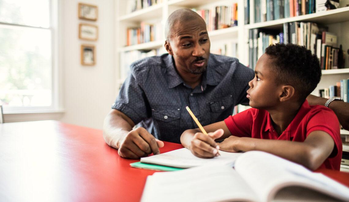 Parent Helping Student